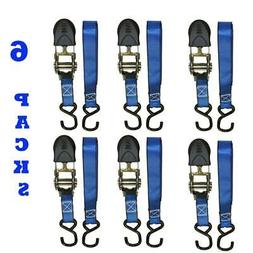 EVEREST 1 In. X 12 Ft. Blue Webbing Ratchet Tie-Down Strap