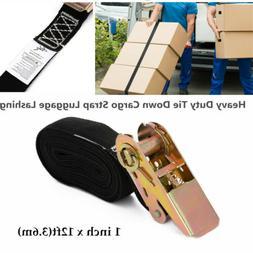 1 inch x 12ft Heavy Duty Tie Down Cargo Strap Luggage Lashin