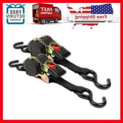 "1"" x 10' Retractable Ratcheting Tie-Down Strap 3300 LB Capac"