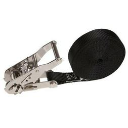 """1"""" x 15' Stainless Steel Black Endless Ratchet Strap"""