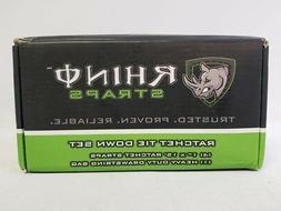 "Rhino USA 1"" x 15ft 1,800lb Max Break Strength Ratchet Tie D"