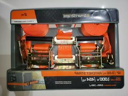 "SmartStraps 12' x 2""Orange Ratchet Straps 2 Pack"