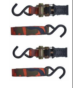 2 Keeper Hampton Industries 16 Foot Blaze Camo Ratchet Tie-D