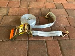 2 Pc  2 in. x 27 ft. Heavy Duty Tie Down Straps 10000 LBS. F