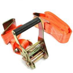 "2"" x 20 ft Ratchet Tie Down Strap Heavy Duty Flat Hook Flatb"