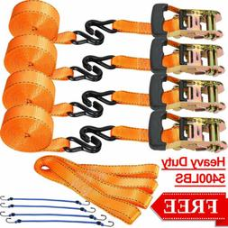 "4 Pack 1.5""x16ft Ratchet Tie Down Strap Cargo Lashing Straps"