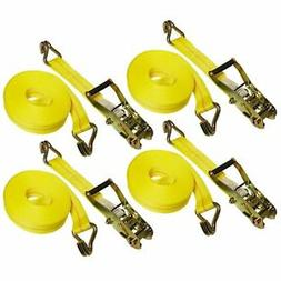 "4 Sets 27 FT Heavy Duty 2"" Ratchet Tie Down Strap 10000"