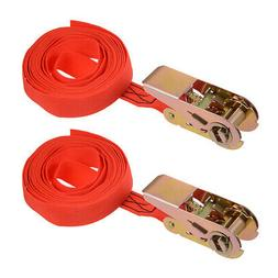 4Mx25mm Ratchet Tie Down Strap Cargo Lashing Straps Up to 25