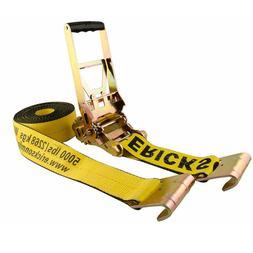 """Erickson 58520 3"""" x 30' Multiplier Ratchet Tie-Down Strap wi"""