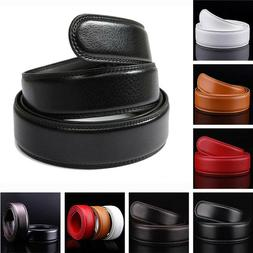 6 Colors Leather Ratchet Belt For Automatic Buckle Waistband