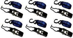 6 Packs Ratchet Tie Down Strap-1 in. x 10 ft. 1500 lbs. Brig