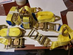 "5 PC Brand New 1.5"" x 15 FT 4000 lb Ratchet Straps. Heavy Du"