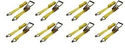"8 Pack 2"" inch x 15' Ft Ratchet Straps J Hook Tie Down Cargo"