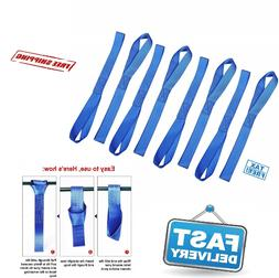 8 Pcs Soft Loop Tie Down Straps 3600lbs Heavy Duty Safe Lugg