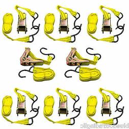 8 Yellow Jacket 13' Tie Down Ratchet Straps Tool Car Truck