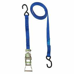 Blue Ratchet Strap Tie Down Trailer 4m Hook Cargo Strap 325k