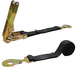 CTDUSA 2 Inch x 10 Foot Ratchet Strap Tie-Down, Flat Snap Ho