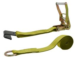 CTDUSA 2 Inch x 10 Foot Ratchet Strap,Flat Hooks On One End,