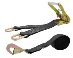 CTDUSA 2 Inch x 15 Foot Ratchet Strap, Double D Ring And w/T