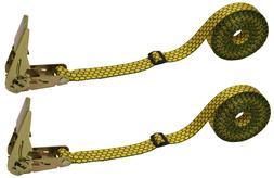 CTDUSA 2 Pack, 1 Inch x 13 Foot Endless Loop Ratchet Strap.