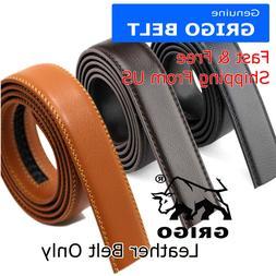 Fashion Men's Automatic Real Leather Ratchet Belt Strap Jean