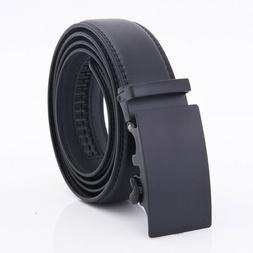 Genuine Leather Belt Men's Automatic Rachet Dress With Adjus
