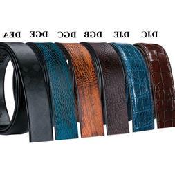 Genuine Leather Belt for Men Lot Fashion Ratchet Black Belt