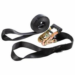 AUGO Heavy Duty Ratchet Strap with Loop Ends 2pk   15ft Tie