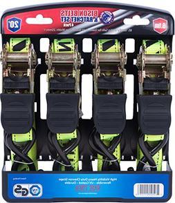 4 Pack Heavy Duty 19 FT Ratchet Tie Down Cargo Straps 1800 L