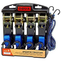 6 Pc Heavy Duty Set Ratchet Tie Down Straps 15 Ft 1500 Lb Br