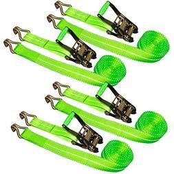 "VULCAN Ratchet Strap - Wire Hooks - 2"" x 15', 4 Pack - High-"