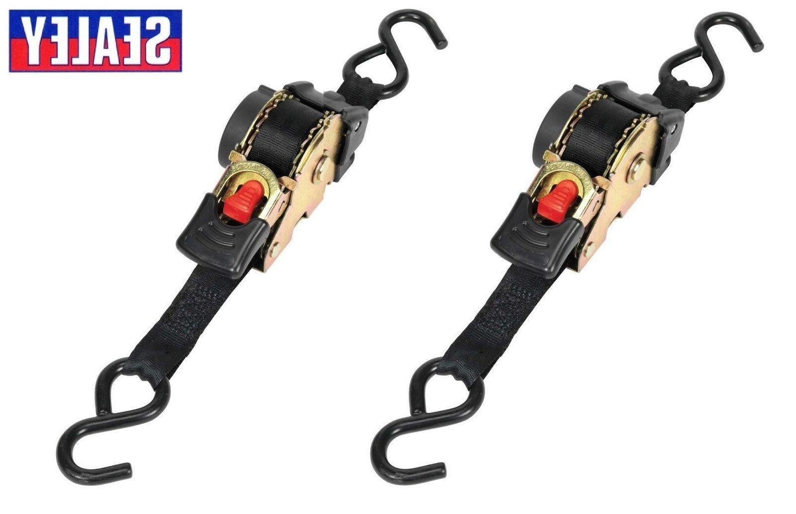 2 x auto retract ratchet tie down