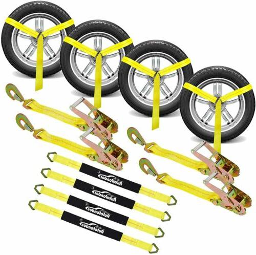 2inch*10ft Adjustable Down Kit Heavy Wheel Ratchet Straps