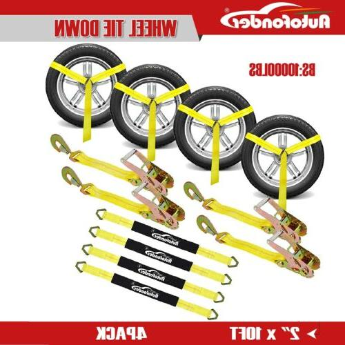 2inch 10ft adjustable vehicle tie down kit