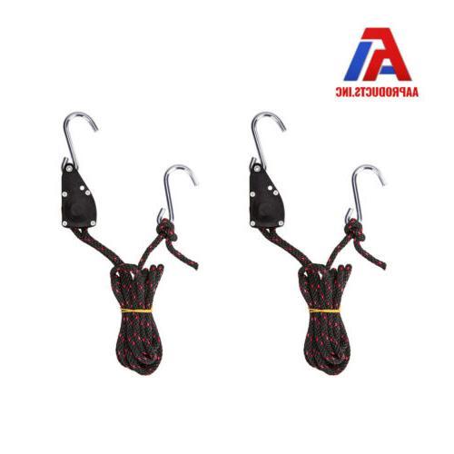2pcs adjustable ratchet tie down straps w