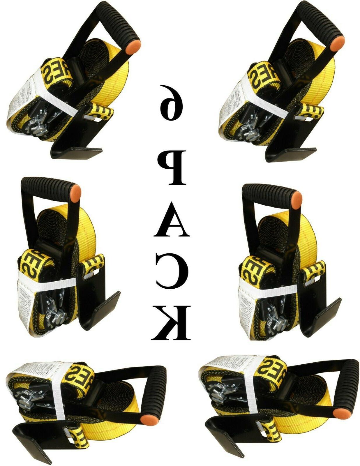 6x ratchets heavy duty tie down straps