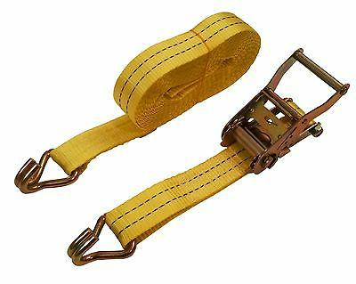 """2 Pack 1-1/2"""" x Tie Down Cargo Straps 4000 Lbs"""