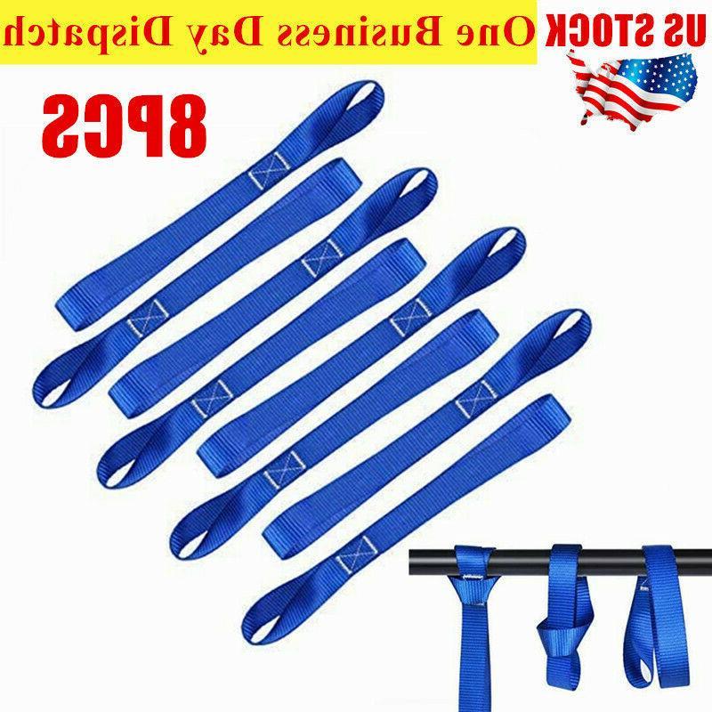 8pcs soft loop tie down straps ratchet