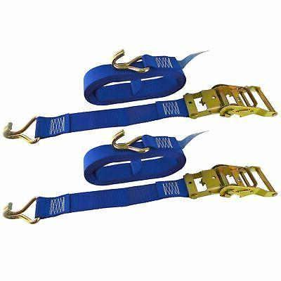 blue ratchet strap tie down trailer 5m