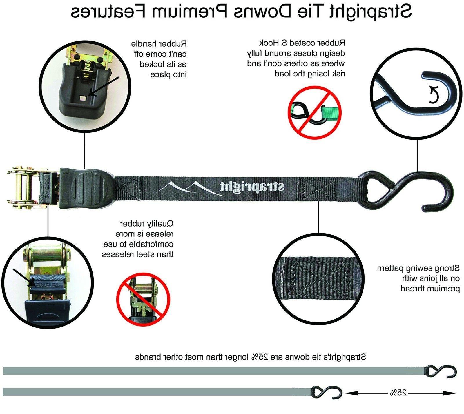 Heavy Adjustable Mechanism Ratchet Tie Straps
