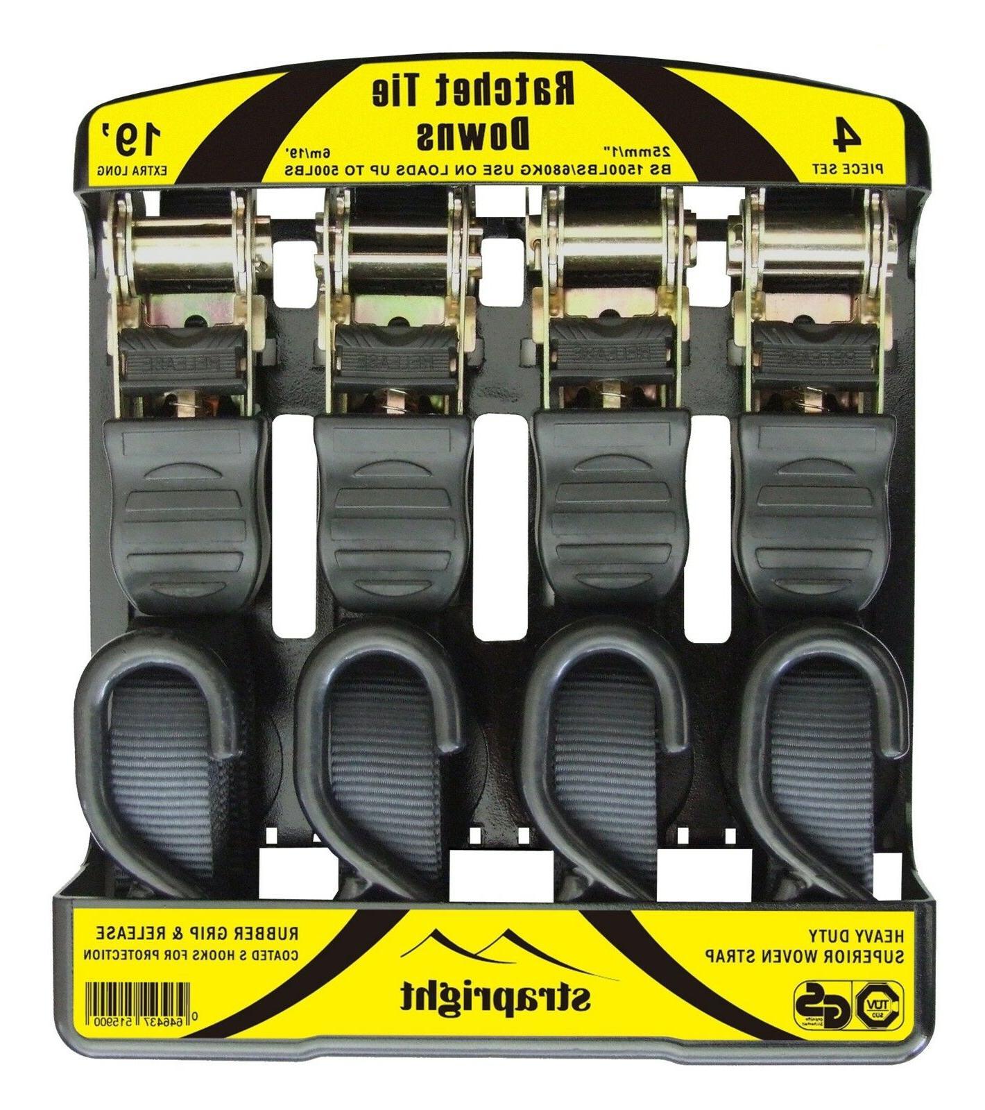 heavy duty adjustable locking mechanism ratchet tie