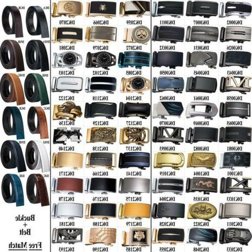 mens belts 12 kinds ratchet leather straps