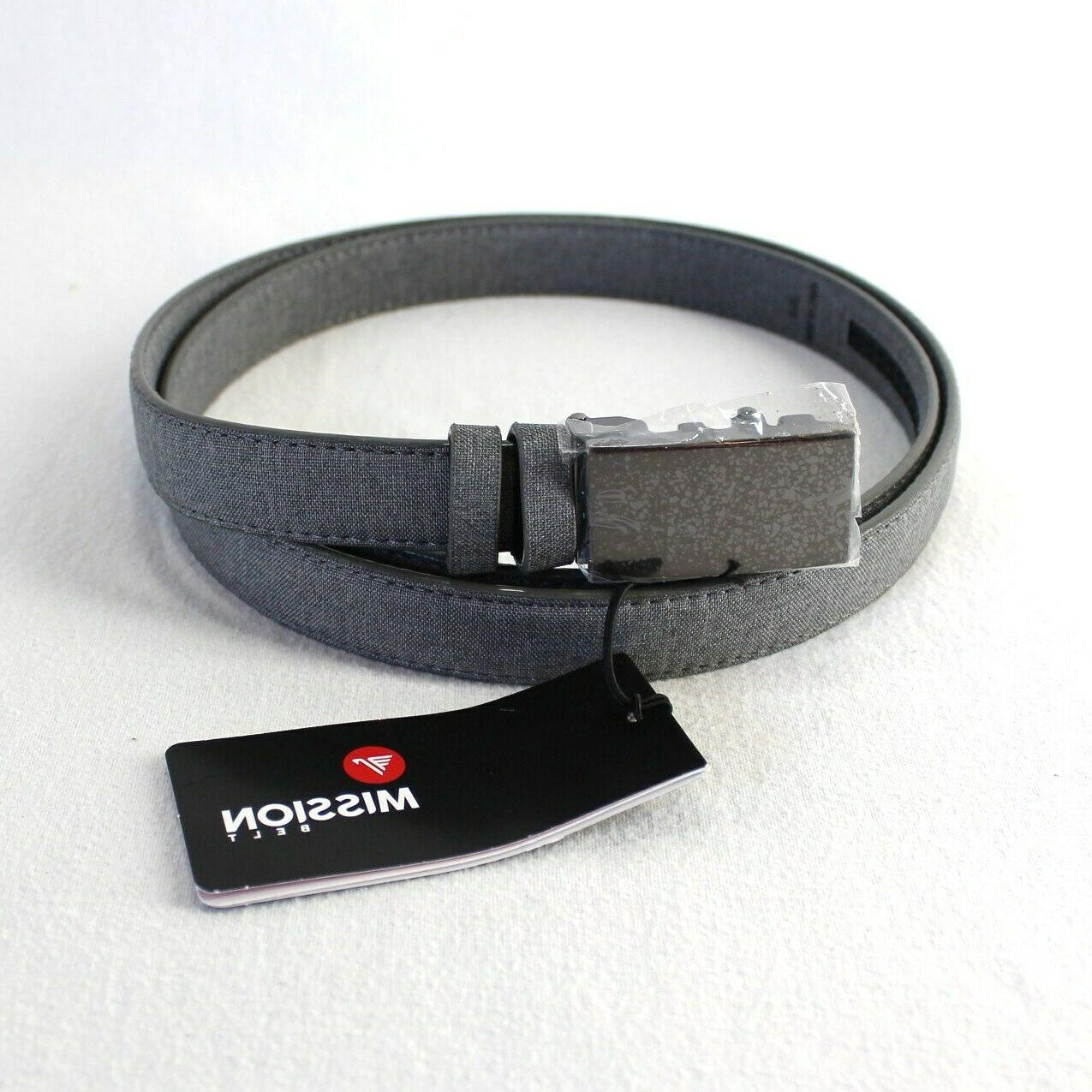 mens xl gray leather strap with coating