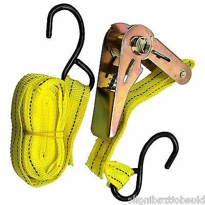 "Ratchet Tie Down Straps 1"" 13' Hooks 20 Pack"