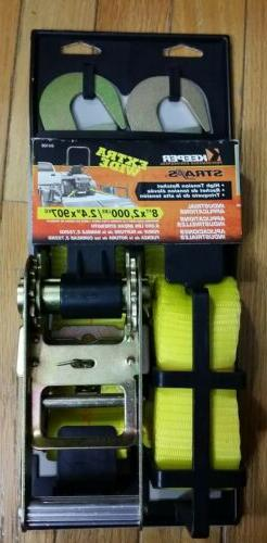 """NEW KEEPER TIE DOWN RATCHET STRAP 8 FT 2000 LBS 2"""" WIDE KEEP"""