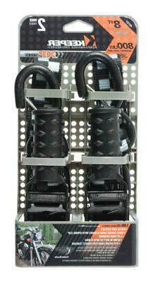 Keeper  Tie Down Strap  Black  8 ft. L 800 lb. 2 pk