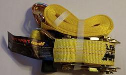 "Wood LC2500DAN 1.5"" x 15' Heavy Duty Ratchet Cargo Strap Tie"