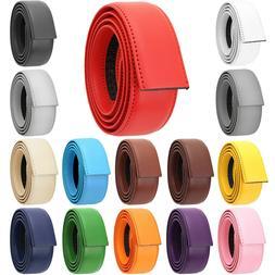 Falari Leather Ratchet Belt Strap Without Buckle 34mm, Strap
