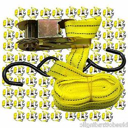 """Lot of 96 Ratchet Tie Down Cargo Straps 1"""" inch x 13' Ft wit"""