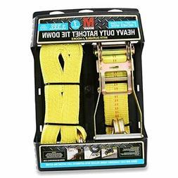 "Mann Ratchet Tie Down Straps J Hook 1 Pack 27'X 2"" (Extra He"